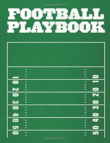 Football Playbook 100 Page 8 5 X11 Notebook With Field Diagrams For Drawing Up Football Plays And Drills Creating A Playbook And Scouting Sports Synchro 9798646707018 Amazon Com Books