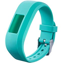 Voberry Replacement Sports Silicone Watch Bracelet Strap Band For Garmin VivoFit Jr Junior Kids Fitness Watch (Mint Green)