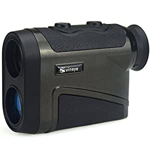 Uineye Laser Rangefinder - Range : 5-1600 Yards, 0.33 Yard Accuracy, Golf Rangefinder with Height, Angle, Horizontal Distance Measurement Perfect for Hunting, Golf, Engineering Survey (Black)