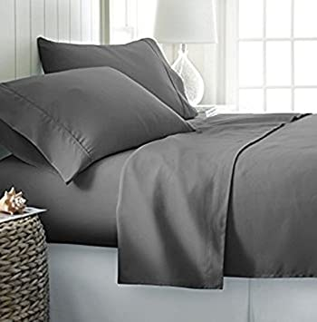 Queen Size Hunter Green Solid Sheet Set 1000 Thread Count 100/% Egyptian Cotton