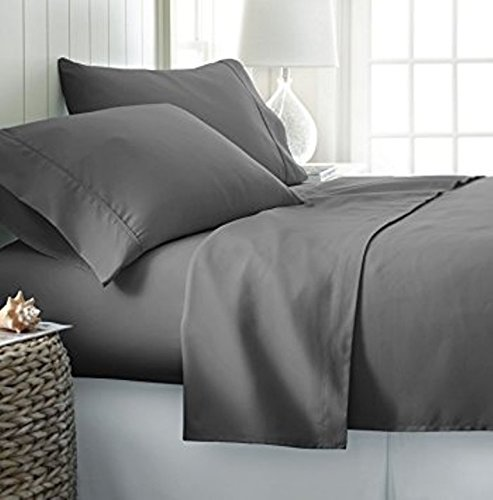 1000 Thread Count 100% Premium Long-Staple 100% Egyptian Cotton, Queen Bed Sheet Set, For 18