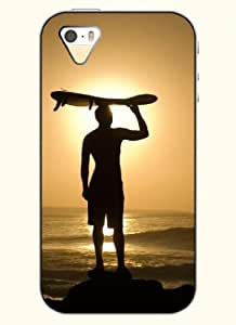 OOFIT Phone Case Design with Sun and Surf Man for Apple iPhone 5 5s 5g