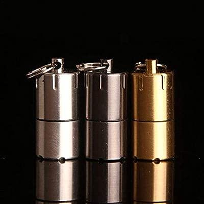 Roawon Mini Compacto Encendedor Llavero Cápsula Encendedor de Gasolina Llavero Acampar al Aire Libre Encendedor portátil