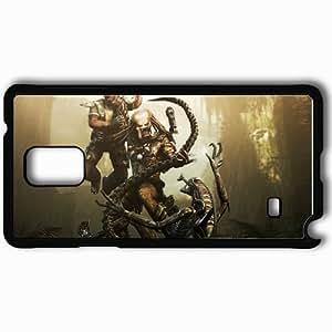 Personalized Samsung Note 4 Cell phone Case/Cover Skin Aliens Vs Predator Black