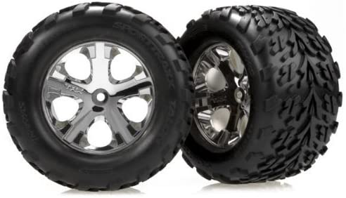 Traxxas 3669 Front Chrome All-Star Wheel with Talon Tire, Stampe