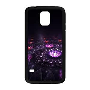 Samsung Galaxy S5 Cell Phone Case Black_Fantasy flowers Dwaqp