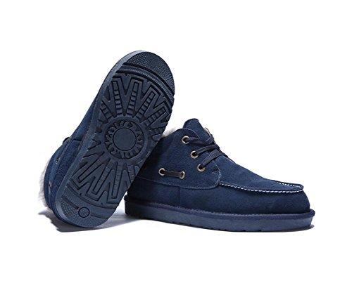 Botas de nieve de invierno ocasionales engrosamiento antideslizante felpa c¨¢lida zapatos de gran tama?o para hombres , 40 , blue