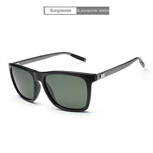 manera sol la Gafas RFVBNM de sol sol conductor de del personalidad negra de magnesio lente gafas anti marco libre de negro del al aluminio de oscuro marco aire negro Lente verde la marco del Gafas del las ULTRAVIOLETA oscura de YBqYwZ