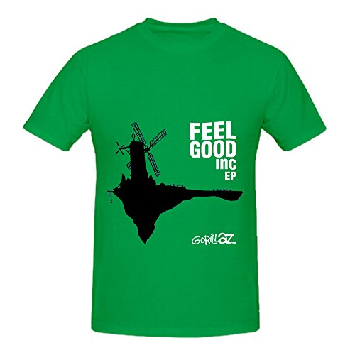 gorillaz-feel-good-inc-80s-album-cover-mens-crew-neck-customized-t-shirt-green