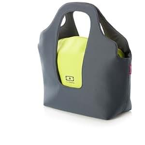 Bolsa bento isotérmica gris / verde