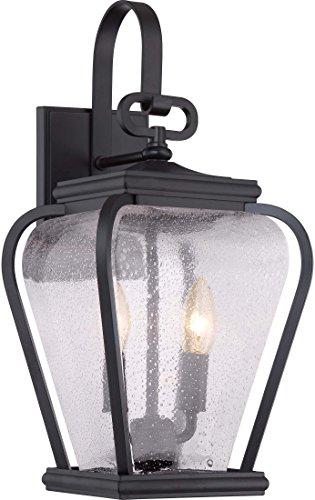 Quoizel PRV8408K Province 2-Light Outdoor Lantern, Mystic Black - French Lighting Quoizel Wall