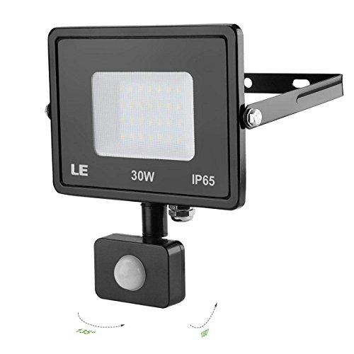 Le 30w Motion Sensor Flood Lights 2400 Lumen Super Bright