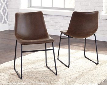 Centiar Brown and Black Dining Upholstered Side Chair Set of 2 (Upholstered Side Chairs)