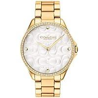Relógio Coach Feminino Aço Dourado - 14503067