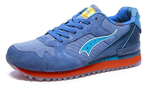 Chaussure De Course Rétro Onemix Mens Bleu / Orange