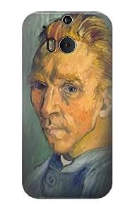S0211 Van Gogh Portrait de Artiste sans Barbe Case Cover for HTC ONE M8