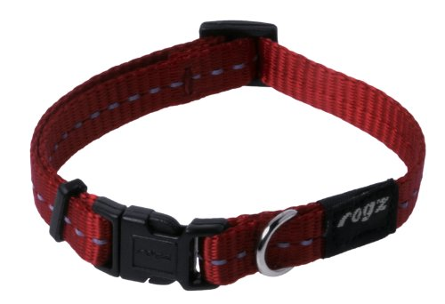 Reflective Dog Collar for Small Dogs, Adjustable from 8-13 inches, Red