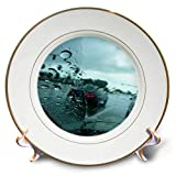 3dRose Lens Art by Florene - Décor Three - Image of Looking Out of Rainy Car Window - 8 inch Porcelain Plate (cp_291481_1)