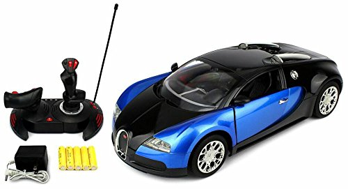 2232S Turbo Racing Car Toy Genuine License Bugatti Veyron 16.4 Grand Sport Remote Control RC Car Big 1:14 Scale Size w/ Bright LED Lights, Opening Doors, Detailed Construction (COLOR:BLUE) (Rc Car Working Lights compare prices)