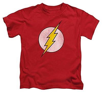 Juvenile: The Flash - Flash Logo Distressed Kids T-Shirt Size 5/6