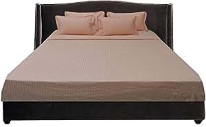 Brightlinen Peach Single (90 X 190 Cm) Sheet Set Stripe (pocket Size: 30 Cm) 6pcs