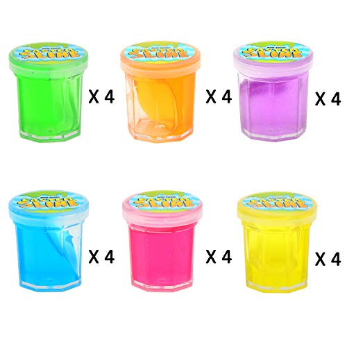 JOYIN 24 PCs Filled Easter Eggs with Mini Glitter Putty Slime, Bright Colorful Easter Eggs Prefilled with Various Ultimate Silly Fluffy Slime for Kids by JOYIN (Image #1)