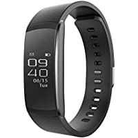 OMNiX™ IWOWN I6 Pro Smartband 24h Heart Rate Monitor Fitness Tracker Sleep Monitor Wristband OLED Screen Bluetooth Waterproof Smartwatch Muti-Sport Management for iPhone IOS8. 0 / Android 4. 3, Black