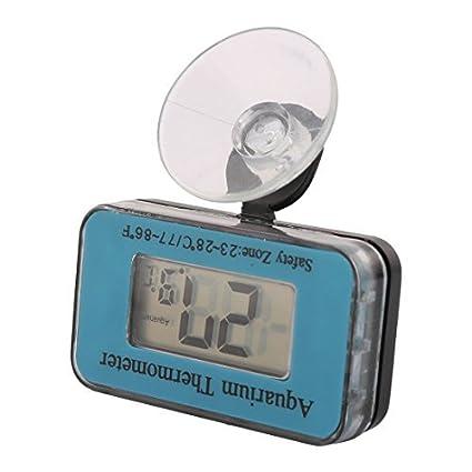 eDealMax Pantalla LCD peces de acuario tanque resistente al agua la temperatura del termómetro Digital