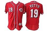 Men's Short Sleeved No.19 Cincinnati Baseball Jersey Red L