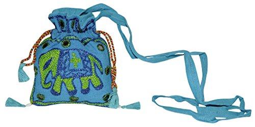 Ethnic Designer Embroidered Ladies Fashion Potli Sling Bag 13 x 15 Cm