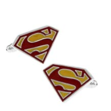 TAILUN Men's Wedding Cufflinks Super Hero Cufflinks (Superman)