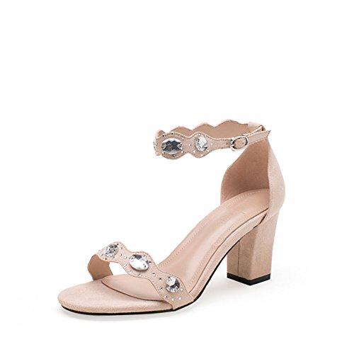PUMPS Mode Sandalen,Womens Shoes Heel Heels,Das Wort Schuhe-A Fußlänge=23.8CM(9.4Inch)
