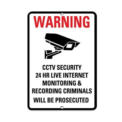 24 Computer Hr Vinyl - Warning CCTV Security 24 Hr Internet Monitoring & Recording Vinyl Sticker Decal 8