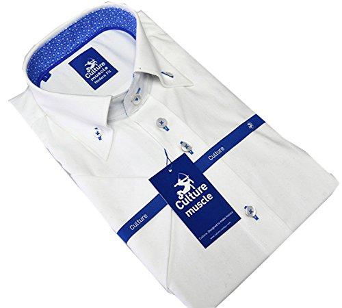 Culture Designerhemd, Modern fit, Kurzarm in Weiß