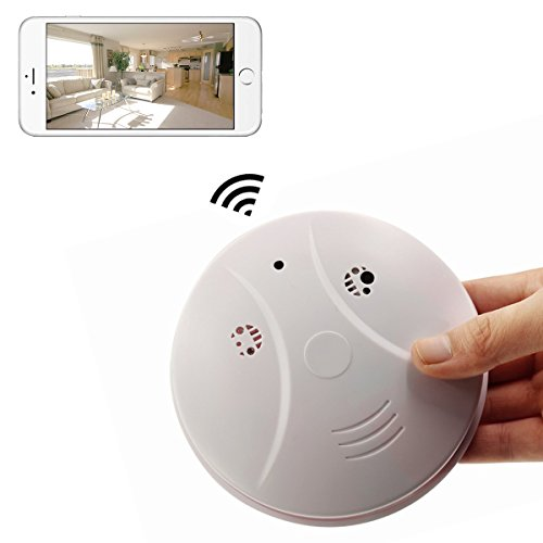 KAMRE WIFI Hidden Smoke Detector Camera Full HD 1080P Spy Camera Motion Detection Activated Nanny Camera Remote Control Real-time Video Recorder for Security and Surveillance by KAMRE