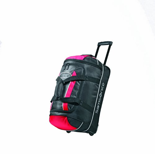 Samsonite Luggage Andante Wheeled Duffel 22, Black/Red ()