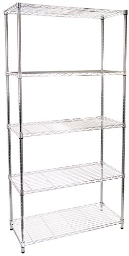13 5-Tier Adjustable Shelving System, 16-Inch by 36-Inch by 72-Inch, Chrome ()