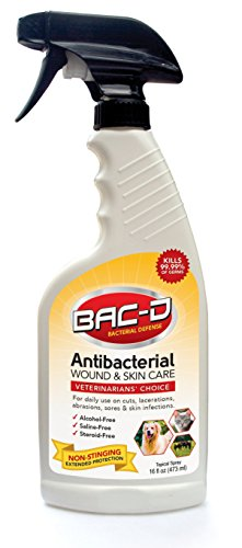 BAC-D 626 Animal Wound and Skin Care, Steroid Free, Non-Necrotizing, 16 oz.