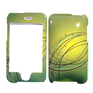 Hard Plastic Snap on Cover Fits Apple iPod Touch 2(2nd Generation) 3(3rd Generation) Lime Swirl (Please carefully check your device model to order the correct version.)