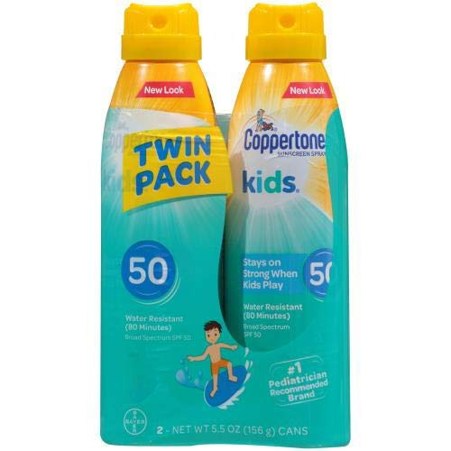 Coppertone Kid's Twin Pack Sunscreen, SPF50 (Pack of 20)