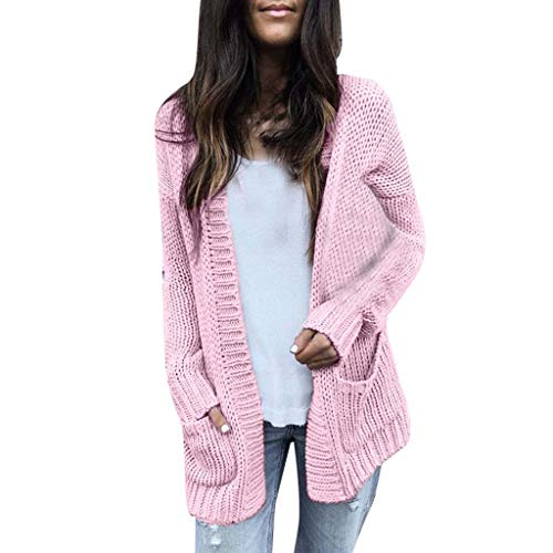 (Outerwear for Women, Women Calsual Long Sleeve Solid Sweater Cardigan Coat with)