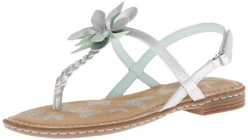 (BOC Kids Daley Fisherman Sandal (Little Kid/Big Kid),Silver/Aqua,5 M US Big Kid)