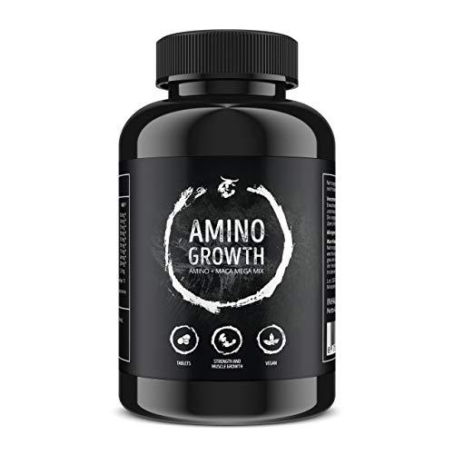 AMINO GROWTH 150 Comprimidos (Vegan) | Alta dosis con 5000 mg/porción | Complejo de aminoácidos con Maca y vitamina B6 | para la construcción de músculo, tonificación, dieta y mejora del rendimiento a buen precio