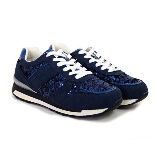 Blu Francesco Milano L360MBL Sneakers Francescomilano qXxw4OUf