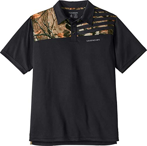 Legendary Whitetails Men's Fast Lap Polo Black Large