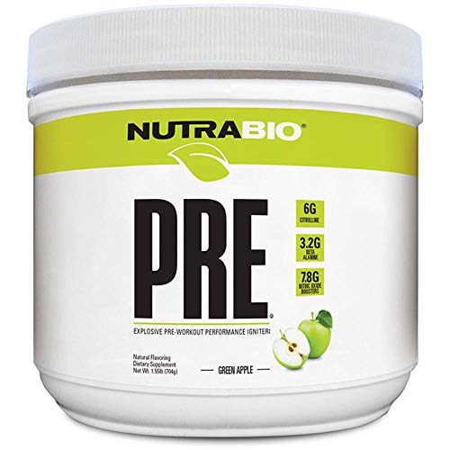 Support Organic Apples (NutraBio PRE Natural (Green Apple) - Naturally Sweetened and Flavored Pre Workout)