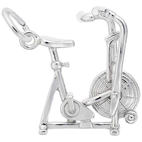Rembrandt Charms Exercise Bike Charm, 14K White Gold