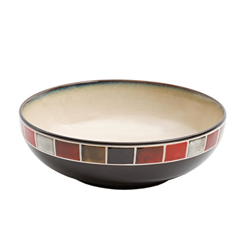 Cream Serving Bowl - Gibson Elite Casa Roja Reactive Glaze 10