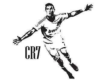 Poster Adesivo In Vinile Celebrativo Di Cristiano Ronaldo Del Real