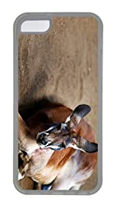 covers cool Kangaroo TPU Transparent Case for iphone 5C